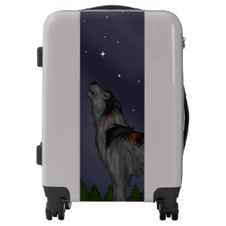 Howling Wolf (Gray) Luggage