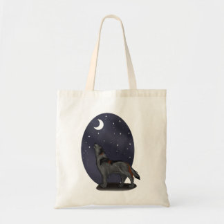 Howling Wolf (Gray) Tote Bag