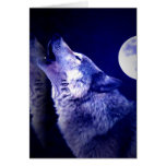 Howling Wolf Greeting Card