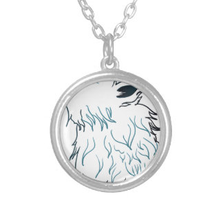 Howling Wolf Head3 Round Pendant Necklace