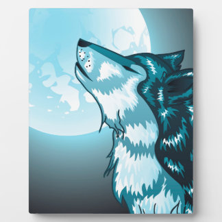 Howling Wolf Head Display Plaques