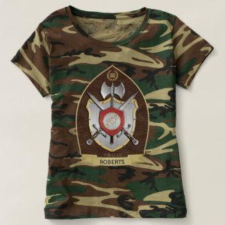 Howling Wolf Heraldry Crest Sigil Brown T-shirt