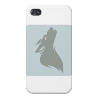 Howling Wolf Icon Covers For iPhone 4