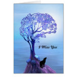 Howling Wolf in Blue Card