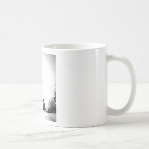 Howling Wolf in Snow Mugs