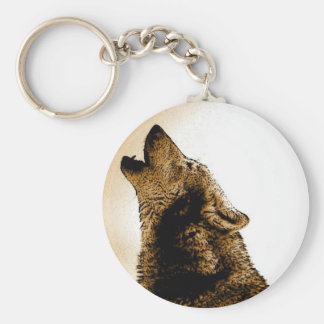 Howling Wolf Key Chain