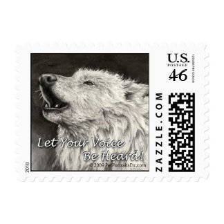Howling Wolf Let your voice be heard Stamp