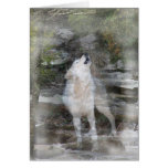 Howling Wolf Michi Greeting Card