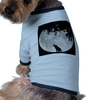 Howling Wolf Moon and Branches Dog Clothing