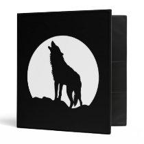 Howling wolf moon black Avery binder