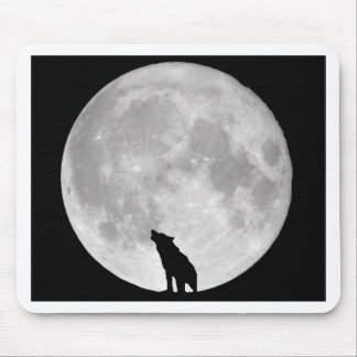 Howling Wolf Moon Mouse Pad