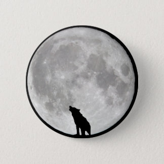 Howling Wolf Moon Pinback Button