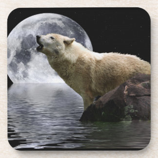 Howling Wolf Moon Wild Animal Drink Coaster