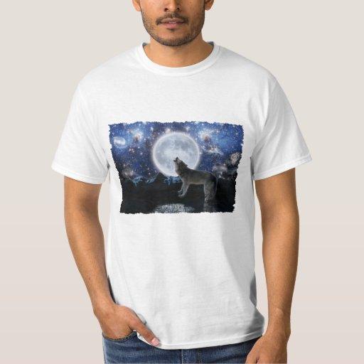Howling Wolf, Moon & Winter Wilderness Tee