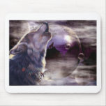 Howling Wolf Mouse Pad