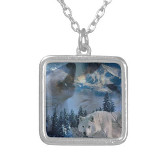 Howling Wolf Pack Silver Plated Necklace