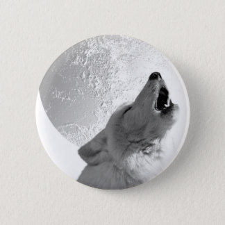 Howling Wolf Pinback Button