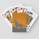 Howling wolf playing cards