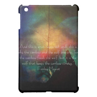 Howling Wolf rainbow colors famous quote ipad case