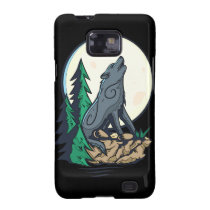 Howling Wolf Samsung Galaxy S2 Cases