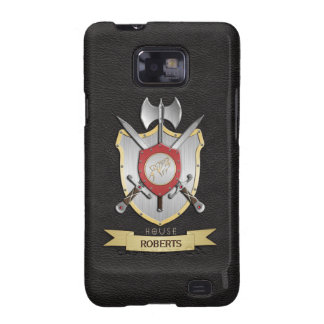 Howling Wolf Sigil Battle Crest Black Samsung Galaxy S2 Cover
