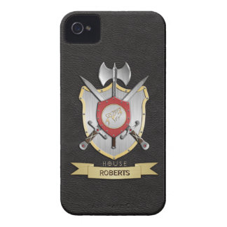Howling Wolf Sigil Battle Crest Black iPhone 4 Covers
