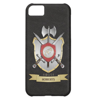 Howling Wolf Sigil Battle Crest Black Cover For iPhone 5C