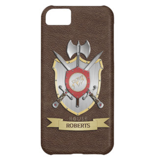 Howling Wolf Sigil Battle Crest Brown iPhone 5C Covers