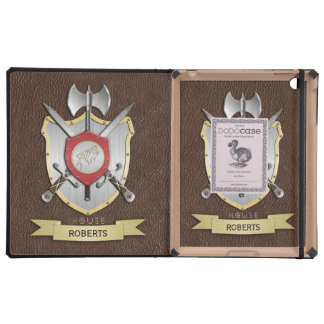 Howling Wolf Sigil Battle Crest Brown iPad Cover