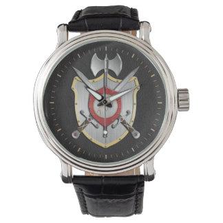 Howling Wolf Sigil Battle Crest Wristwatch