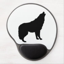 Howling Wolf Silhouette Gel Mouse Pad