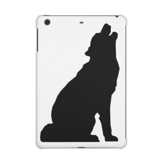 Howling Wolf Silhouette iPad Mini Covers