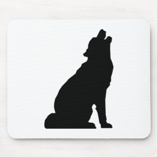 Howling Wolf Silhouette Mouse Pad