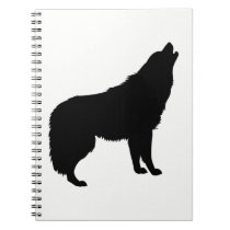 Howling Wolf Silhouette Notebook