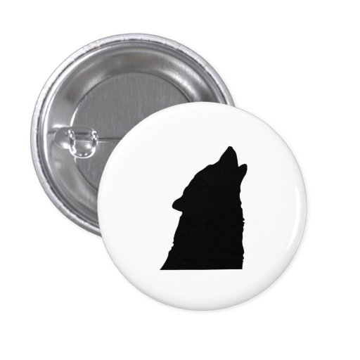 Howling Wolf Silhouette Pins
