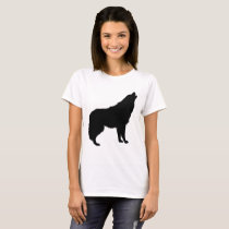 Howling Wolf Silhouette T-Shirt