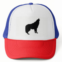 Howling Wolf Silhouette Trucker Hat