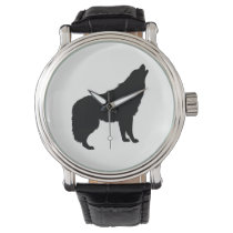 Howling Wolf Silhouette Watch