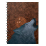 Howling Wolf Spiral Note Books