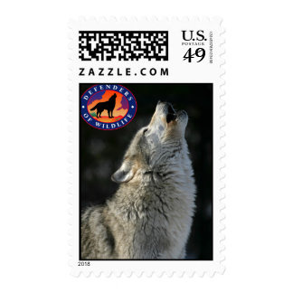 Howling wolf stamp