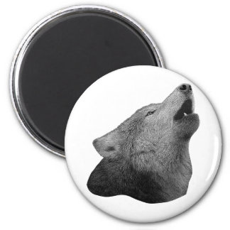 Howling Wolf - Stylized Image Magnet