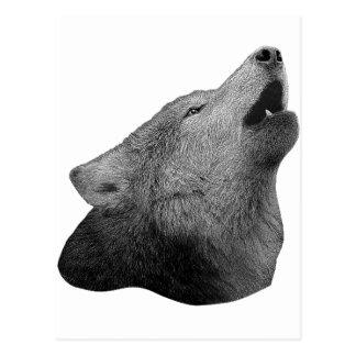 Howling Wolf - Stylized Image Postcard