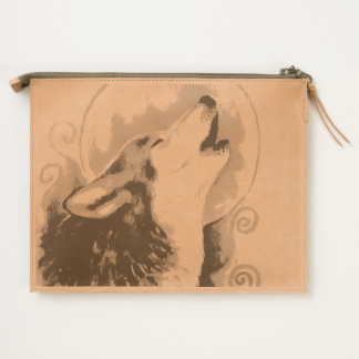 Howling Wolf Travel Pouch