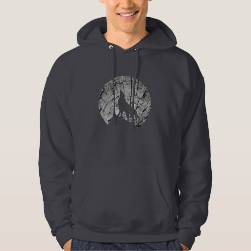 Howling Wolf | Tree Texture Graphic Hoody