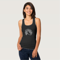 Howling Wolf | Tree Texture Graphic Tank Top