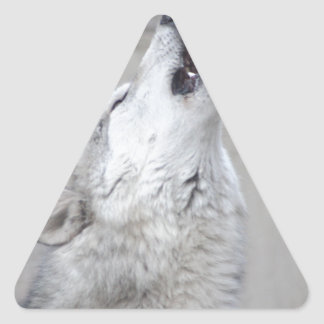 Howling Wolf Triangle Sticker
