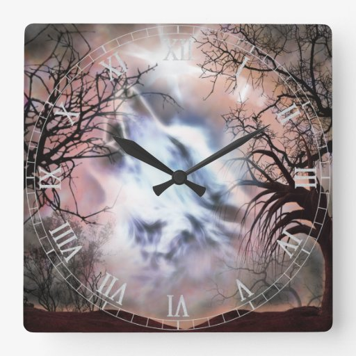 Howling Wolf Vignette Wall Clock