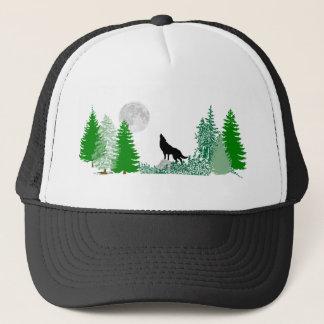 Howling Wolf  Wide View Trucker Hat