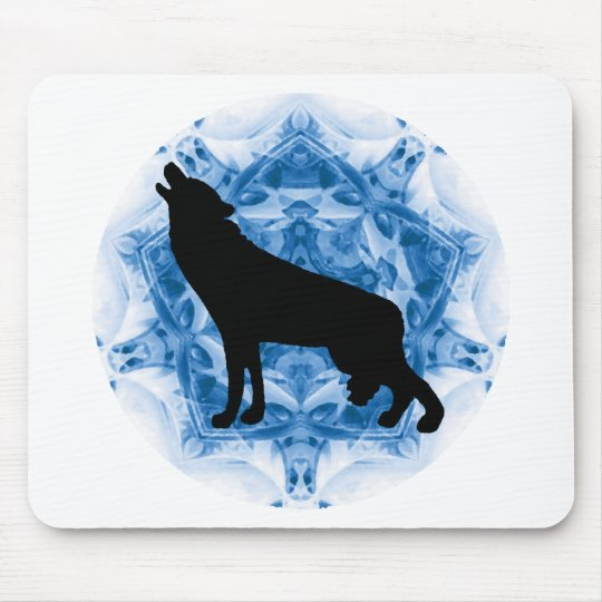 Howling Wolf Wolves Mouse Pad