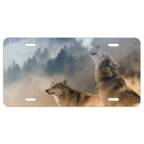 Howling Wolfes Foto License Plate
